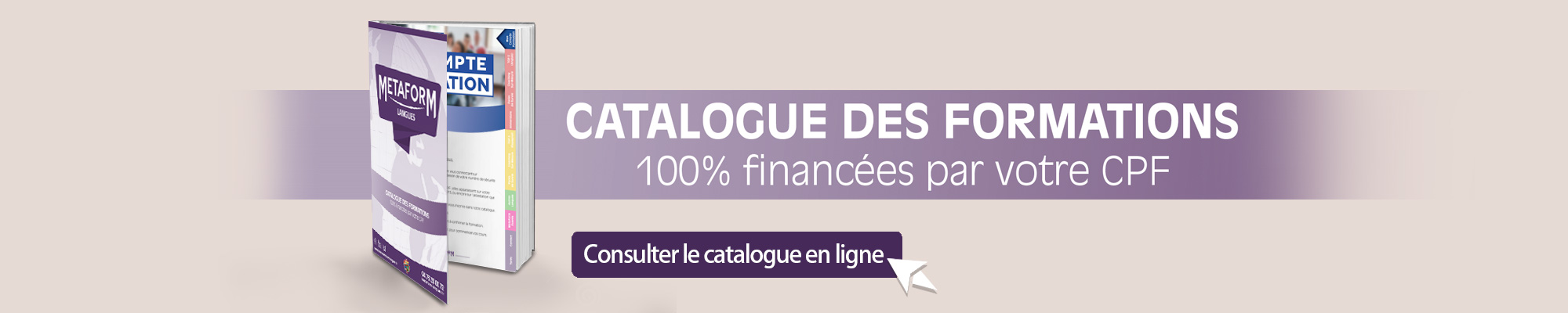Catalogue des formations Metaform Langues