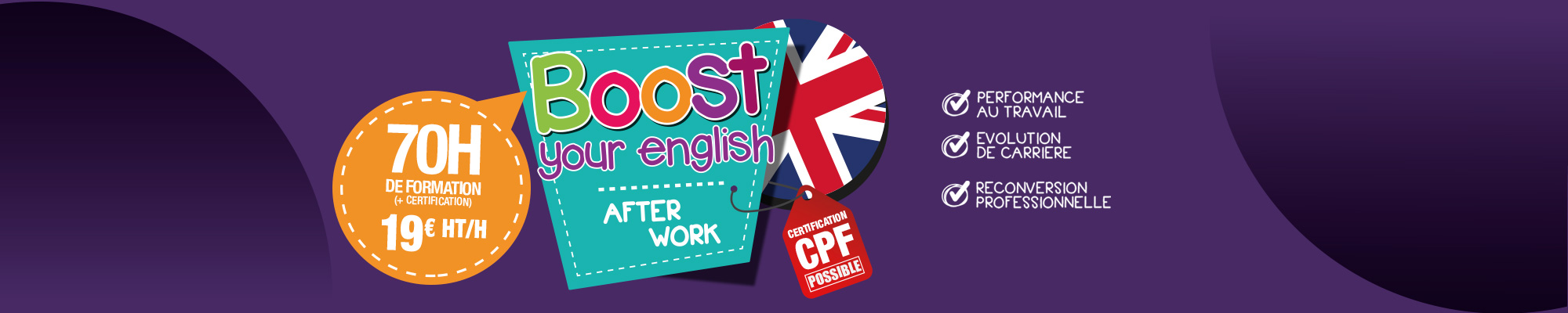 Boost your English, cours d'anglais